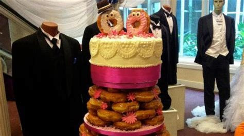 Bakery Creates Glazed Donut Wedding Cake   ABC News