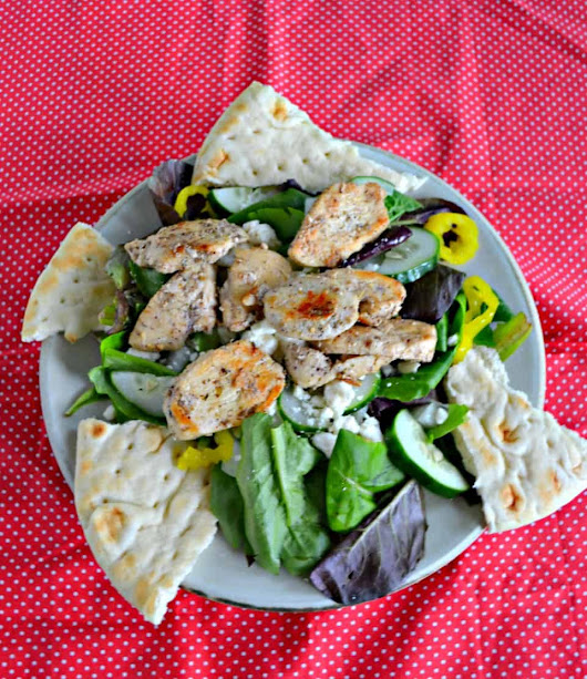 Greek Chicken Salad with Creamy Dressing - Hezzi-D's Books and Cooks