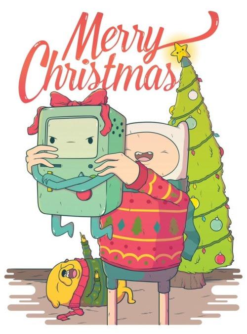 Christmas Adventure Time Illustration art artwork artists on tumblr daniel mackey