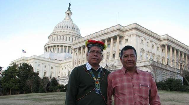 Humberto Piaguaje and Guillermo Grefa visit Washington, D.C.