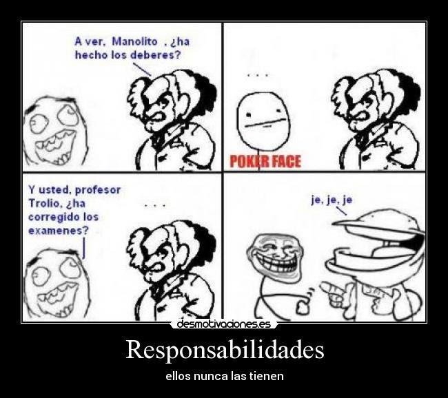 Responsabilidades Desmotivaciones