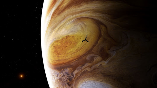 NASA releases 1st raw images from Juno's flyby of Jupiter's Giant Red Spot