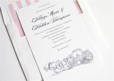 Disney Cinderella's Carriage Fairytale Wedding Invitations