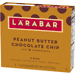 Larabar Peanut Butter Chocolate Chip Fruit And Nut Bar - 5ct