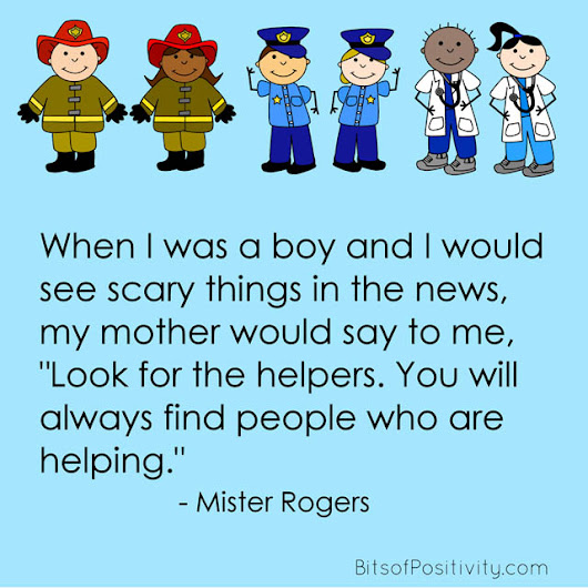 """Look for the Helpers"" Mister Rogers Word Art Freebie - Bits of Positivity"