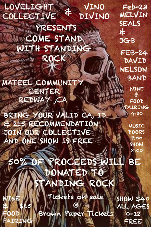 Come Stand With Standing Rock  Benefit in Redmond, CA | Melvin Seals and JGB