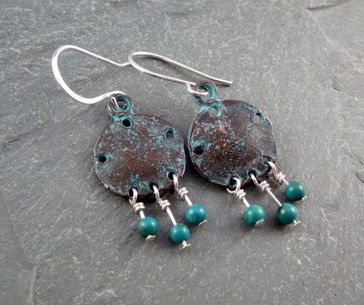 Turquoise Drop Earrings Beach Jewelry Turquoise Chandelier