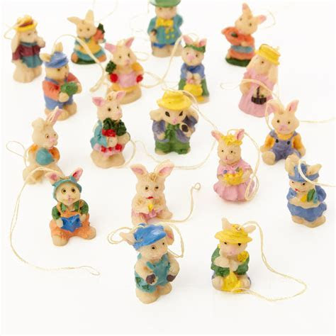 Miniature Easter Bunny Ornaments   Spring and Easter