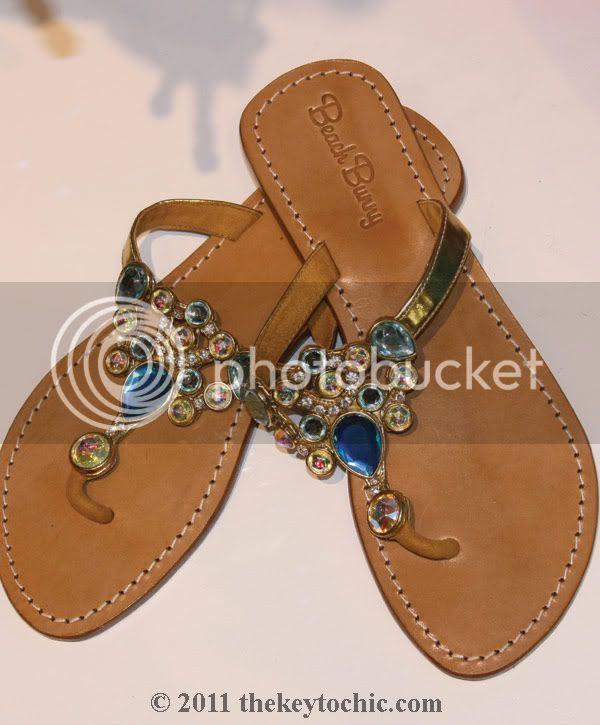 Beach Bunny Swimwear Malibu, jeweled sandals