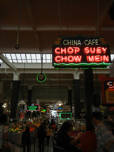 DSCN8826 _ Chop Suey Sign in Grand Central Market, Homer Laughlin Building, 317 South Broadway, Downtown Los Angeles