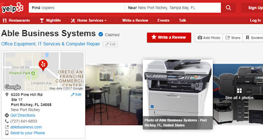 New Port Richey Printer Company Reviews - Copier/Printer Sales/Leasing/Service ️