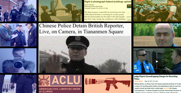 China Detains Reporter During Live Broadcast,  While U.S. Violates Free Speech Every Day right to photograph infowars