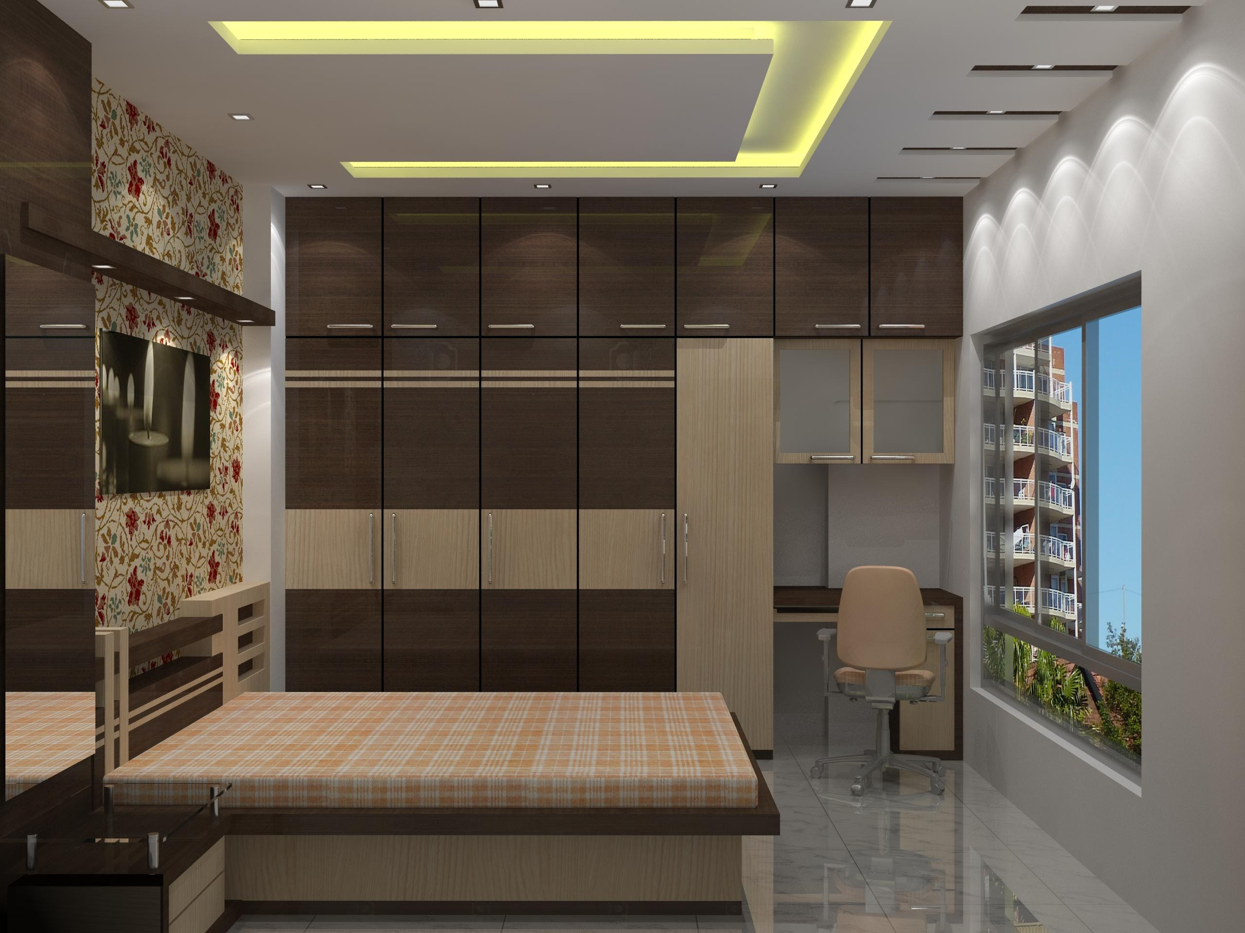 Bedroom With False Ceiling Work Gharexpert