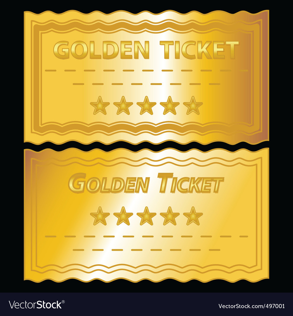 Golden tickets vector by get4net - Image #497001 - VectorStock