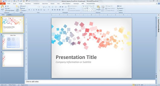 Free Abstract Squares PowerPoint Template
