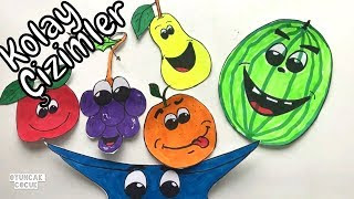 Kolay Meyve Tabağı çizimi Video Clip