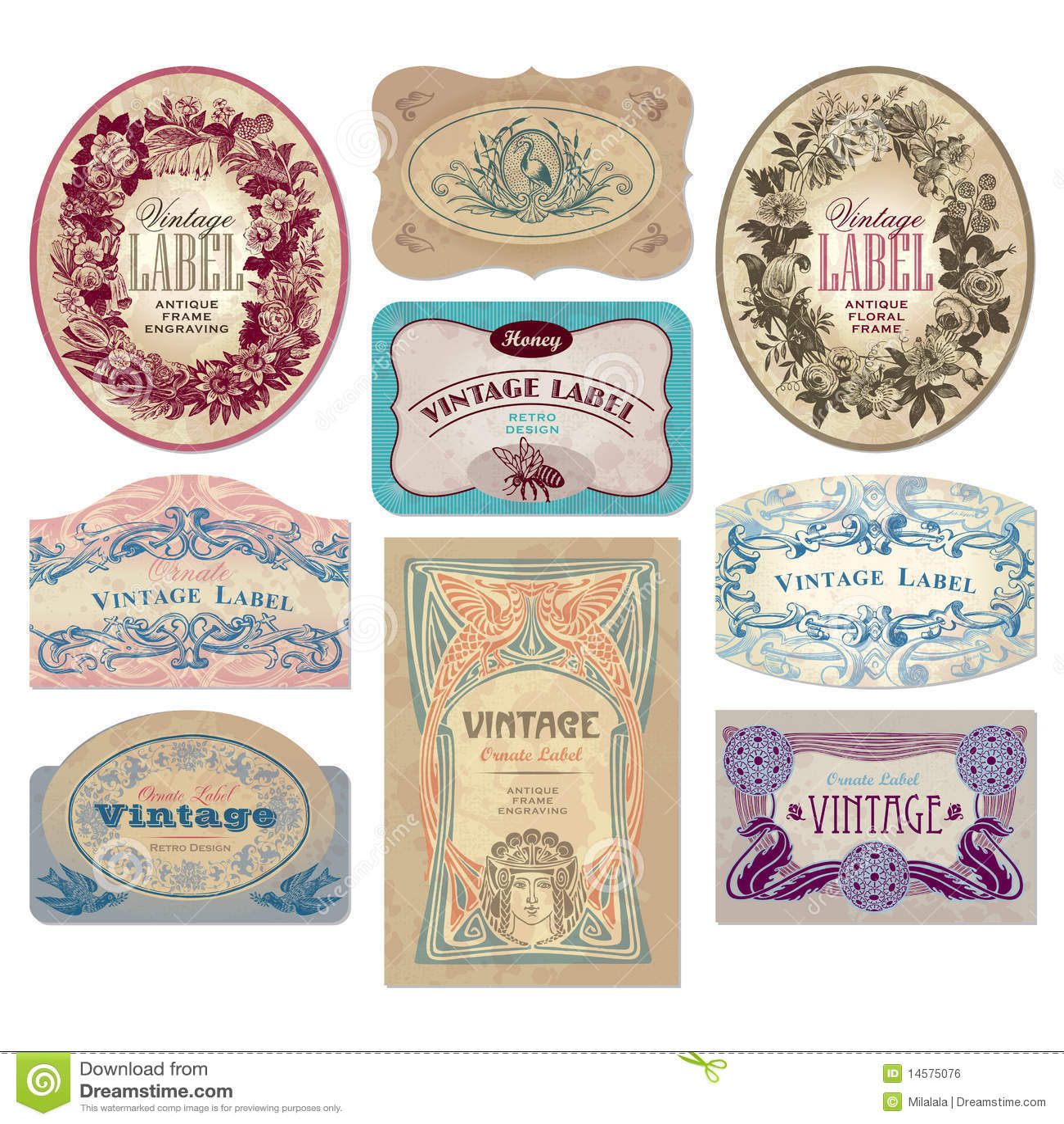 Vintage Labels Set (vector) Stock Photos - Image: 16778813