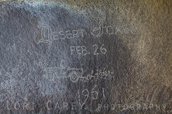 Desert Foxes graffiti, Black Mountain