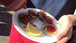 Beachside Catering - Little Neck Clams on Half Shell.