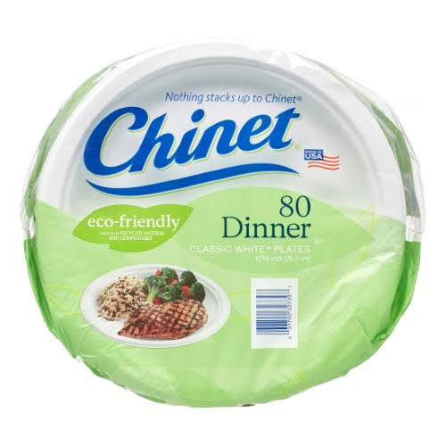 Google Express - Chinet Dinner Classic White Plates, 10 3/8 inch, 80 ...