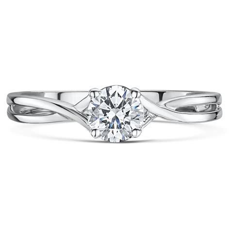 9ct White Gold Third Carat Diamond Solitaire Crossover