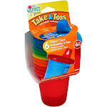 First Years 7-Ounce Take & Toss Sippy Cups, Spill-Proof, 6+ Months - 6 count