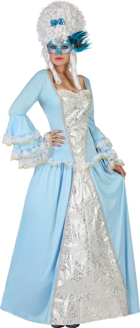 Blue baroque princess costume for women: Adults Costumes