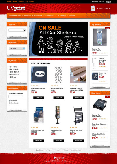 3DCart Ecommerce Store