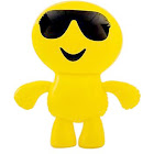 """24"""" Inflatable Cool Guy in Sunglasses Emoji Emote Face Man Decoration"""