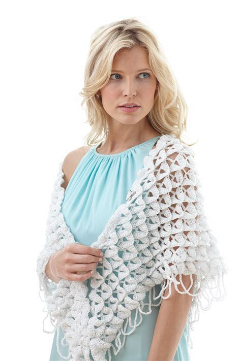Apple Blossom Petals Crochet Shawl   AllFreeDIYWeddings.com