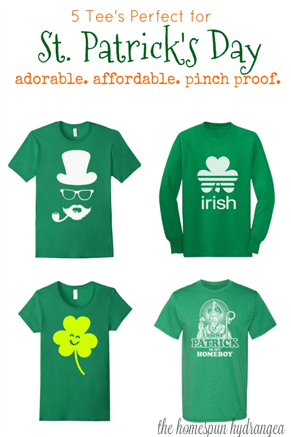 5 Must Have Adorable Saint Patricks Day T Shirts The Homespun