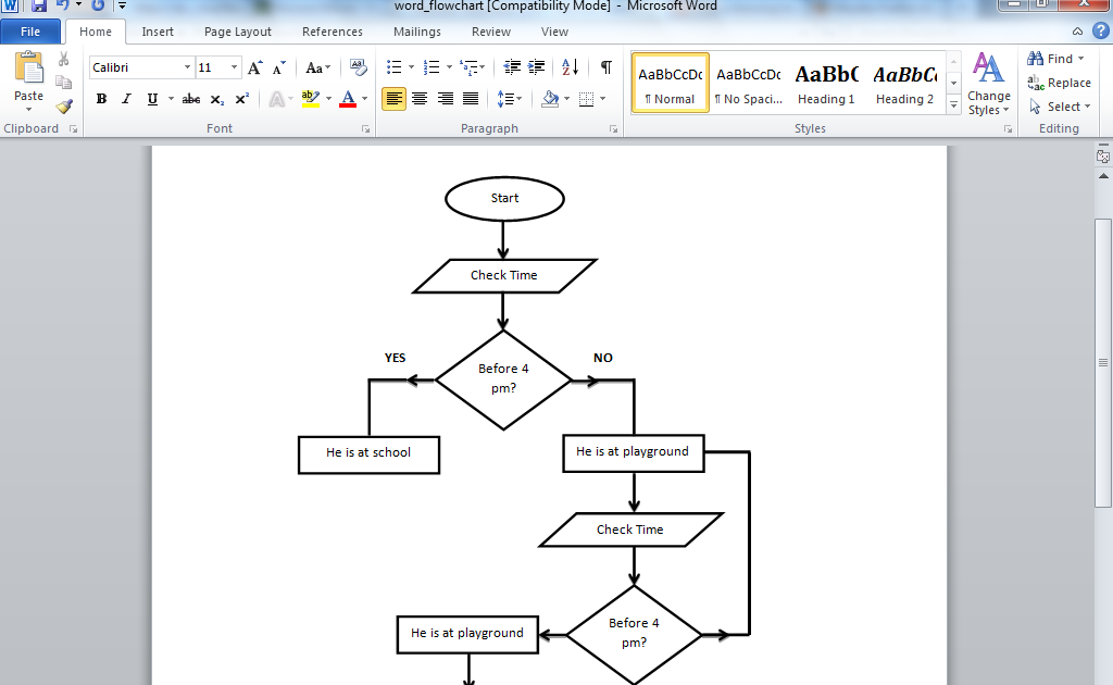 20 Tutorial   How To Draw Flow Diagram In Word Pdf Video