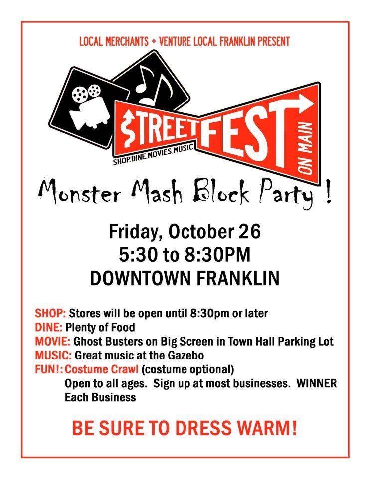 StreetFest Monster Mash Poster