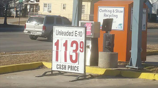 Gas is near $1 a gallon in some places