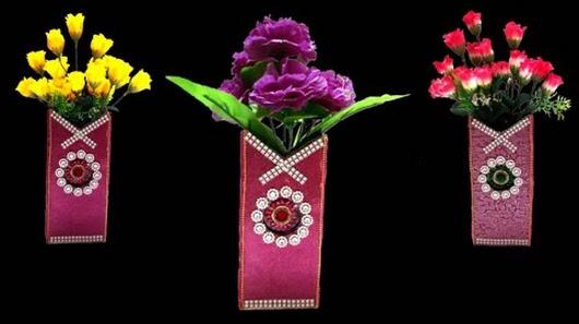 Diy How To Make Flower Vase From Cardboard Diy Flower Vase With