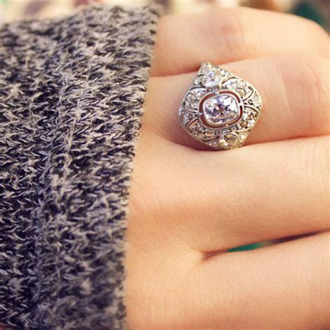 10 Unique Engagement Ring Ideas   mywedding
