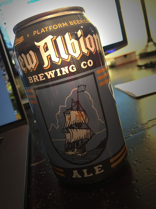 New Albion Ale Launch Party, Can Release and History