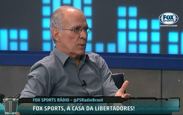 Comentarista da Fox, o ex-jogador Mário Sérgio, está entre as vítimas do acidente  (Foto: Reprodução/Fox)