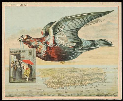 Peruvian Bitters - Bird's Eye View of San Francisco, 1880s