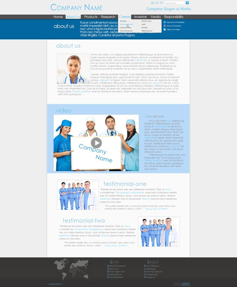 The Medical Co. Professional Web Design [Page 2] will download as a ...
