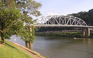 Kanawha River; downtown Charleston, West Virgi...