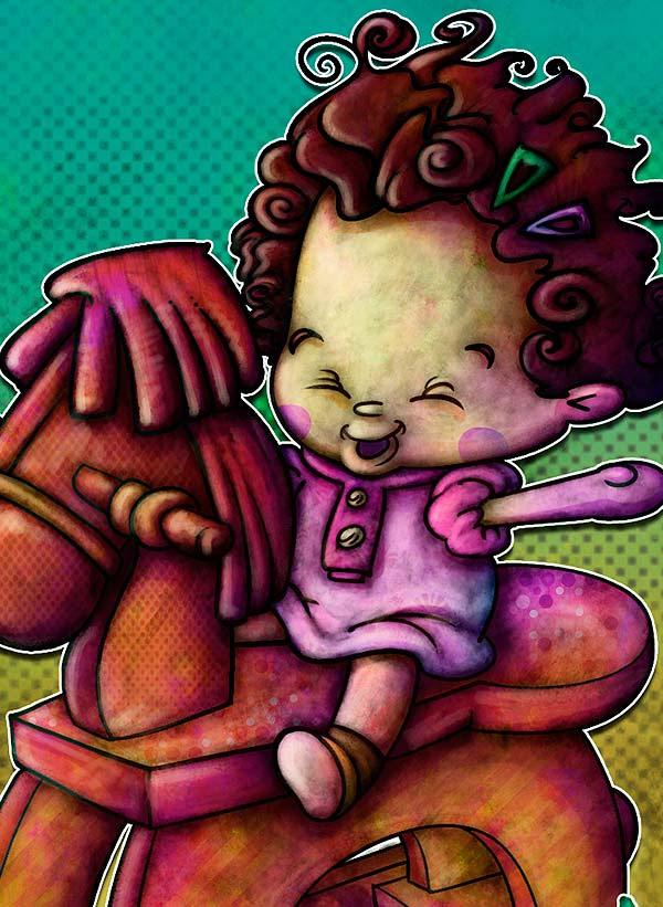 Ilustración infantil, Sophia por Hache Holguín