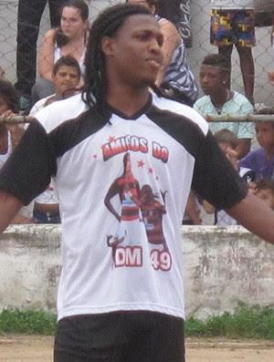 Diego Maurício, do Flamengo, em pelada beneficente (Foto: Thales Soares/Globoesporte.com)