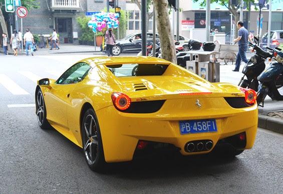 Yellow Ferrari 458 Spider Has A License In China Carnewschina Com