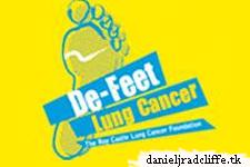 Daniel donates shoes for De-Feet Lung Cancer auction