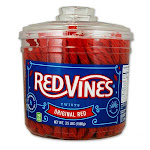 Red Vines Original Red Licorice Twists Candy - 3.5 lb jar