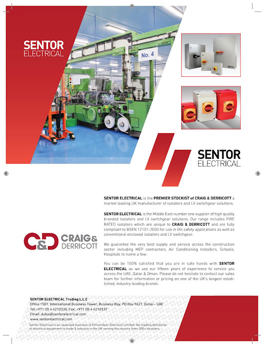Sentor electrical c&d advert