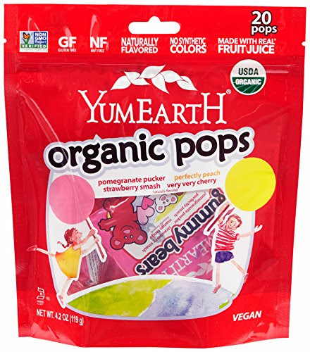 Amazon.com : Organic Lollipops Assorted Bin, 25 Count, 6 Ounce : Suckers And Lollipops : Grocery & Gourmet Food