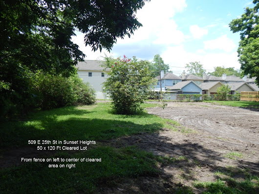 Heights Lot for Sale. 509 E 25th St | Rich Martin Homes
