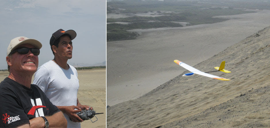 RC glider near Huanchaco
